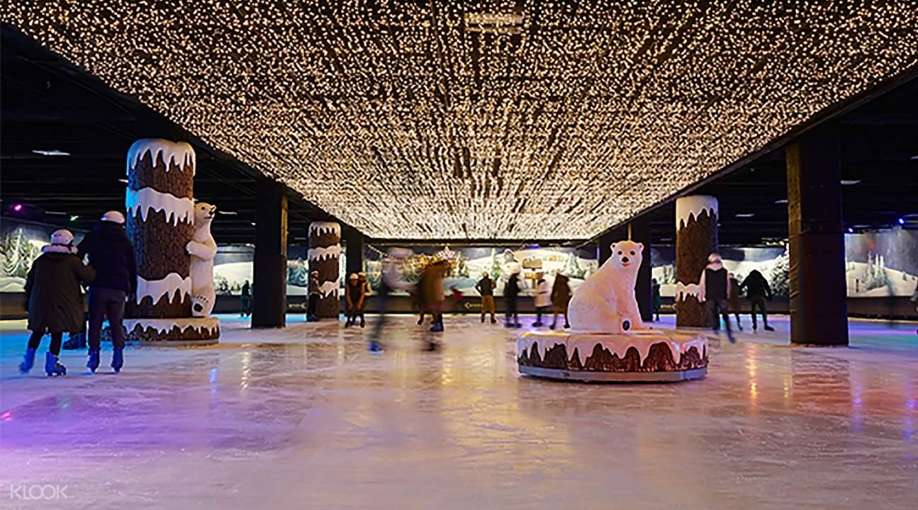 ice skating rink of e-world
